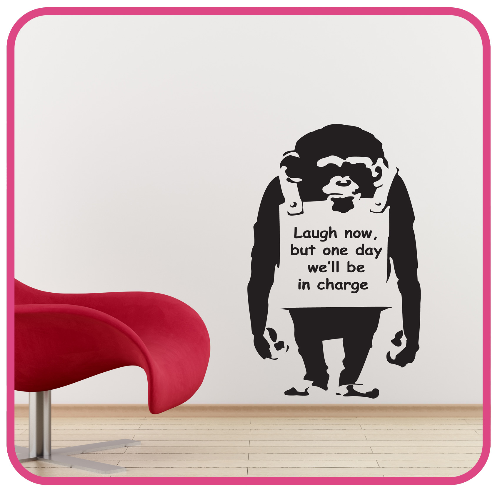 Wall Art Stickers Banksy : Banksy wall stickers monkey decals art ba