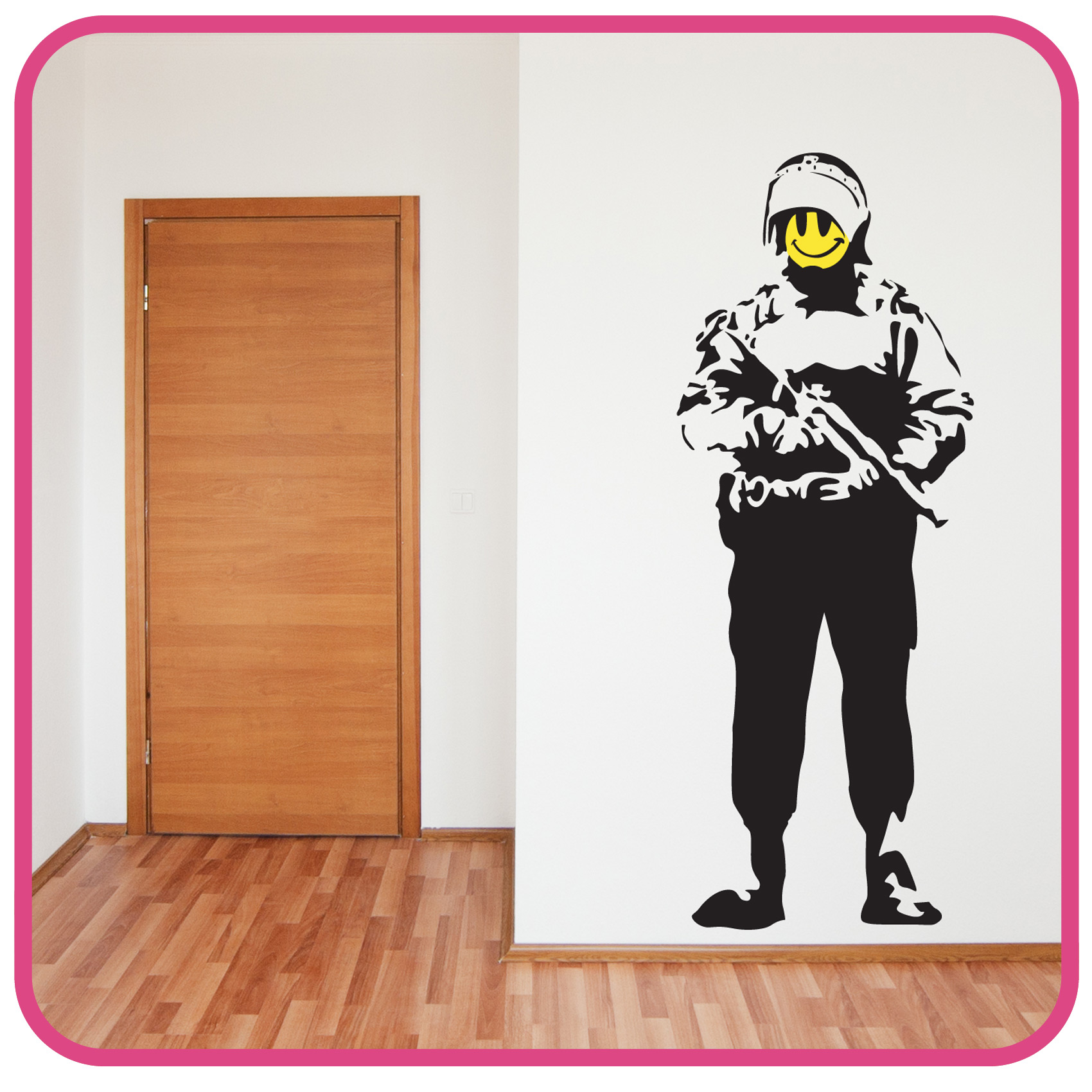 Wall Art Stickers Banksy : Banksy style acid soldier wall art sticker decal