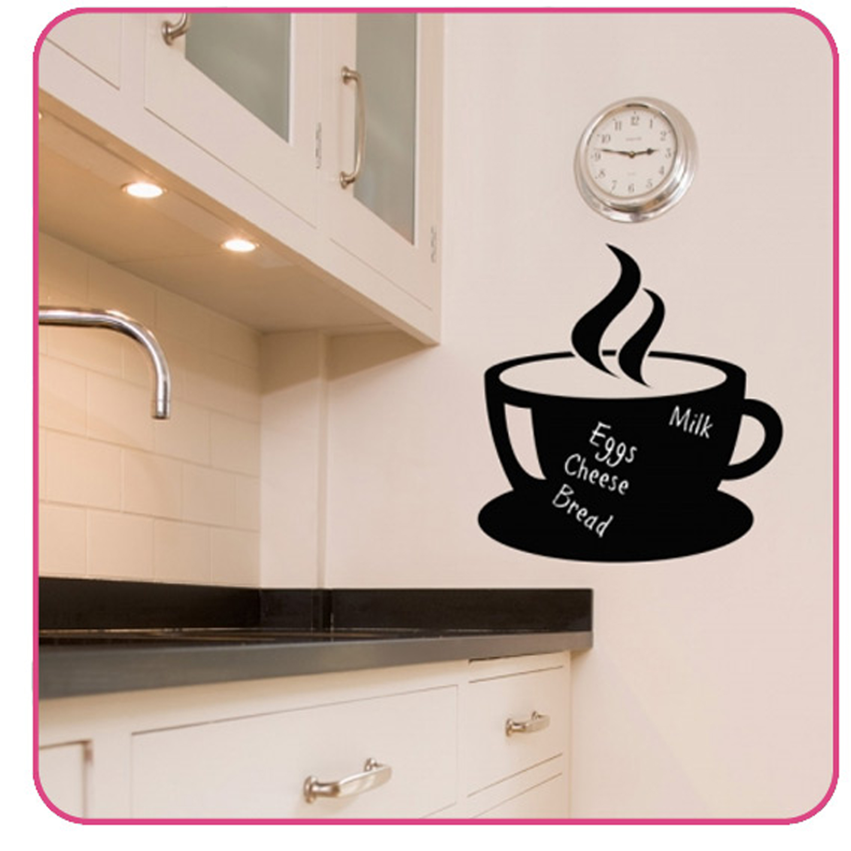 chalkboard wall sticker kitchen decals tea cup ebay