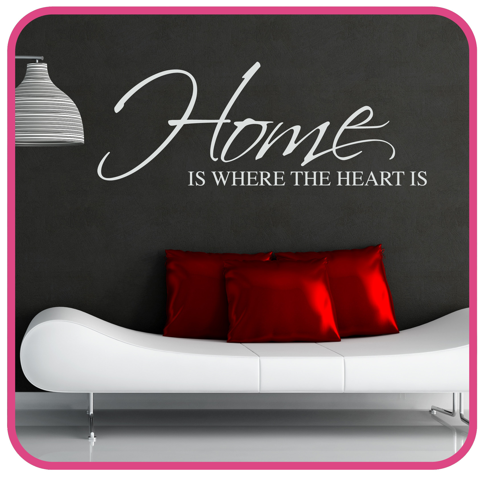 Home Is Where The Heart Is Quote Home Is Where The Heart Is Wall Sticker Art Decal Quote  Ebay