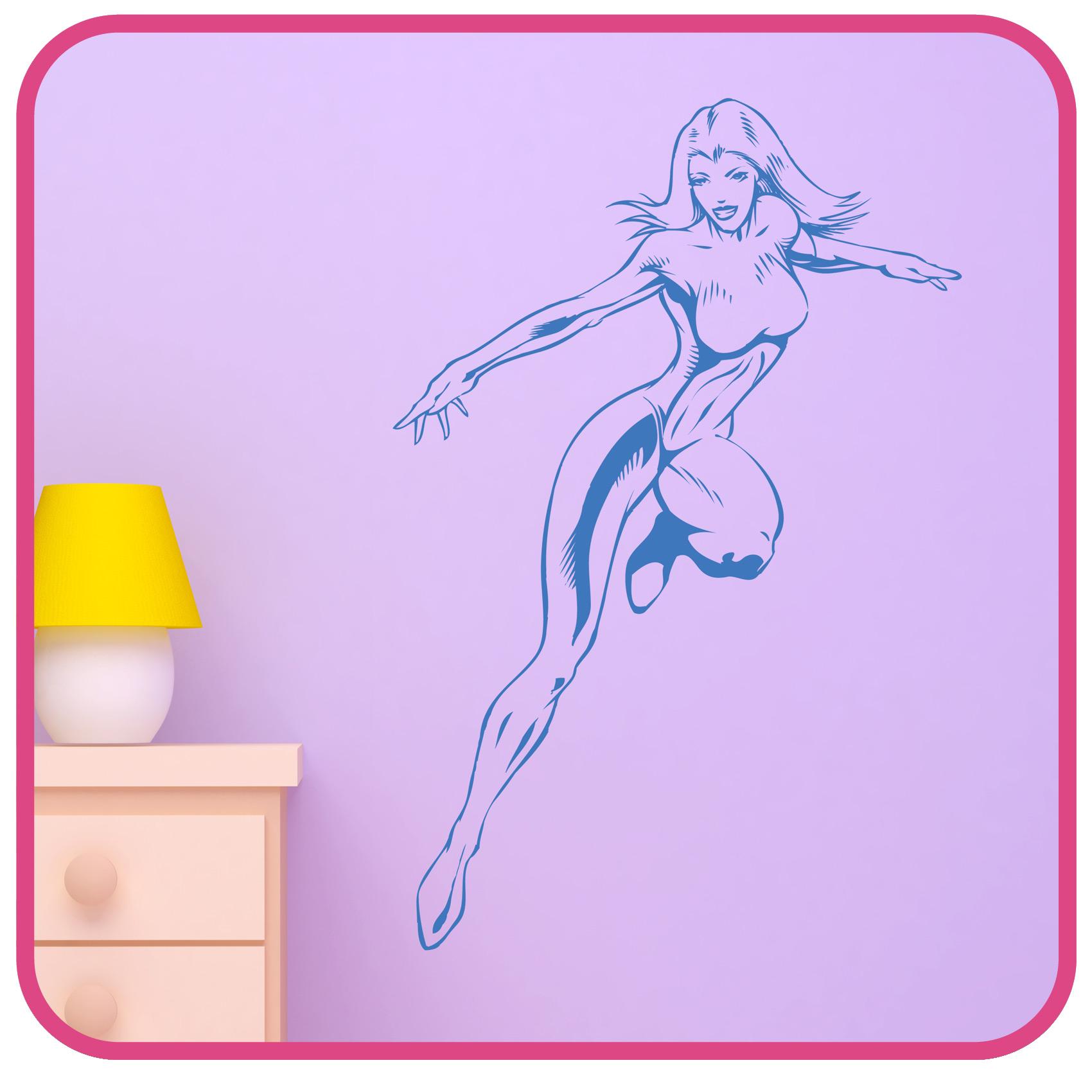 superhero wall sticker kids comic art decals k17