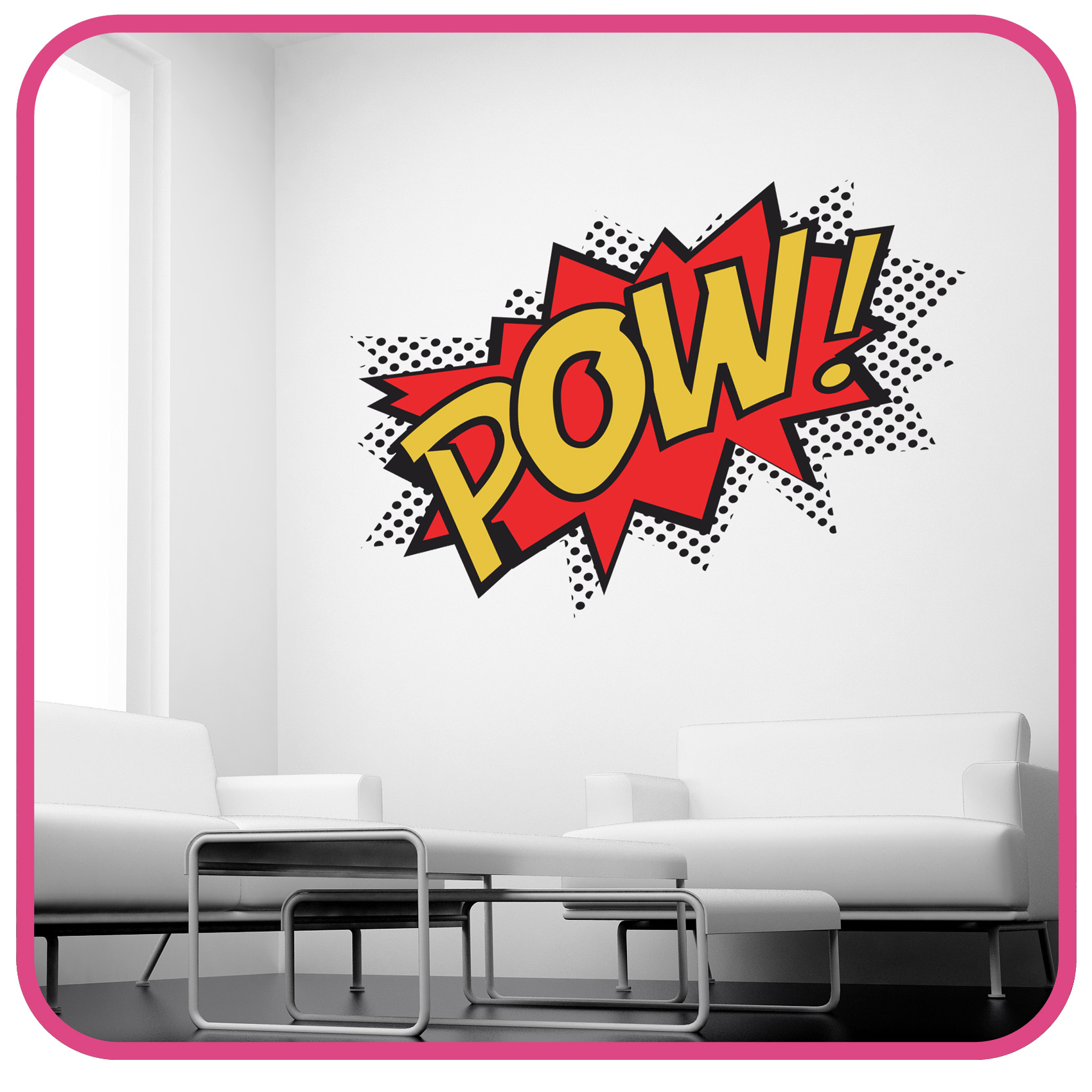 Pow wall sticker superhero kids comic art decals k27 ebay please use the dropdown tab at the top of the page to select your colour and size requirements amipublicfo Gallery