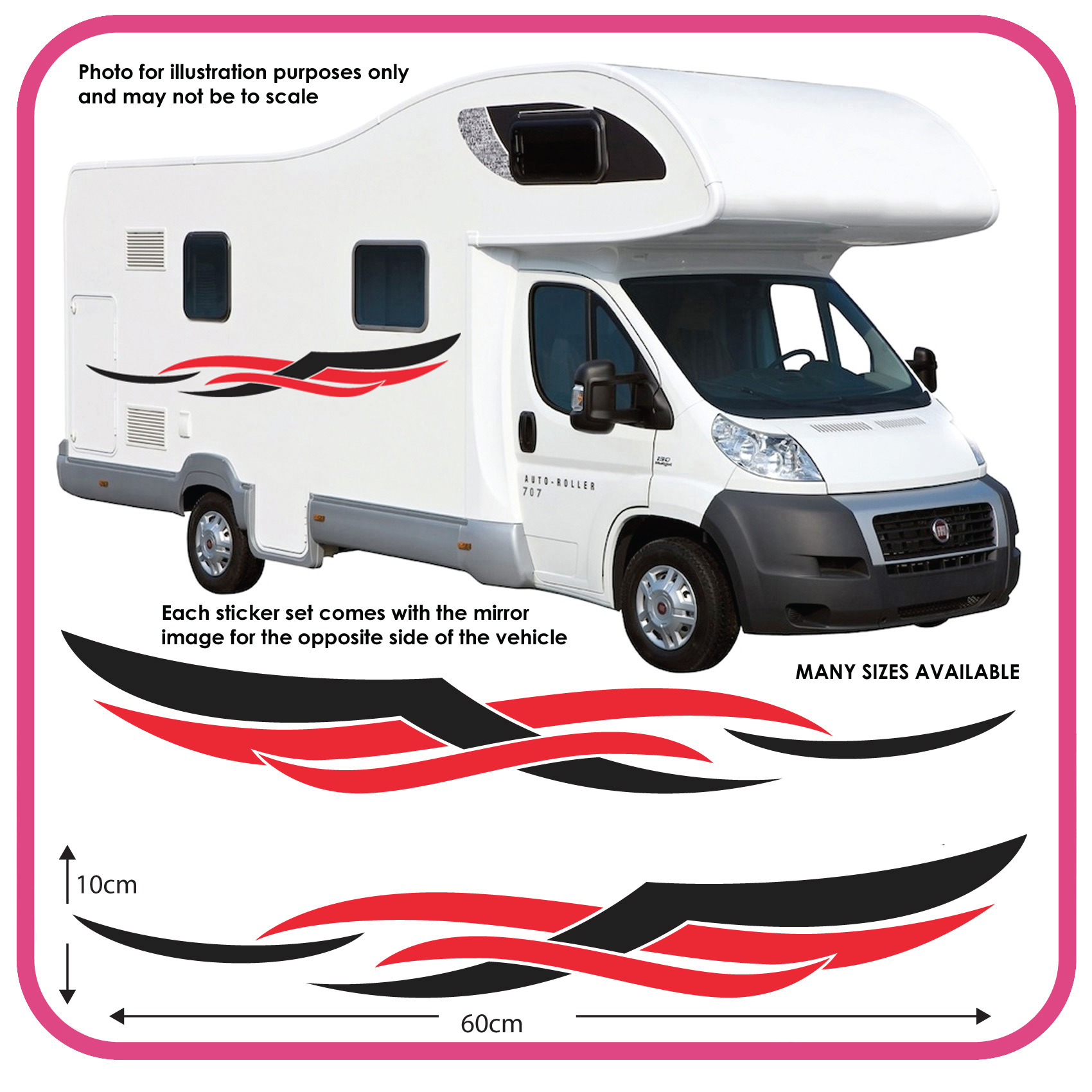Motorhome Vinyl Graphics Stickers Decals Camper Van Rv