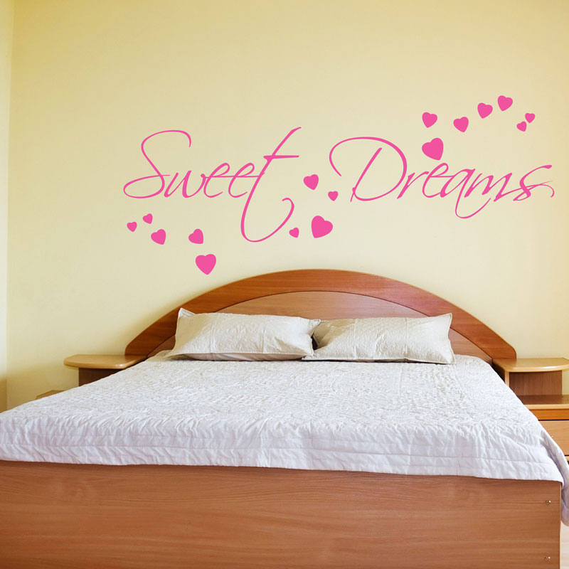 Sweet dreams wall sticker art decals quotes bedroom w43 ebay for Bedroom wall decals