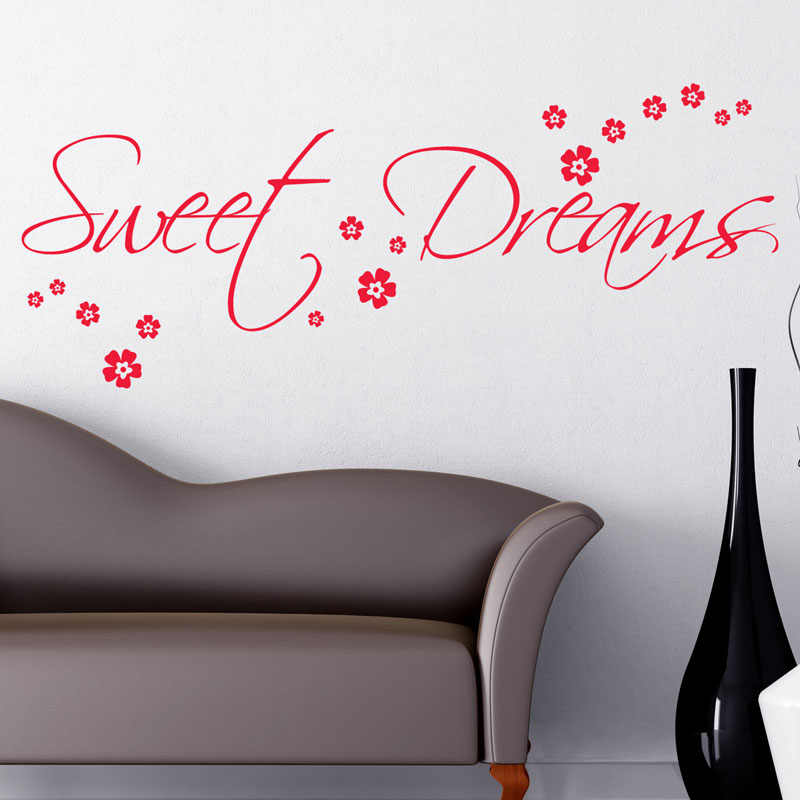 sweet dreams wall sticker art decals quotes bedroom w43 ebay sweet dreams 3 wall sticker wall art com