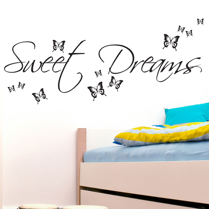 SWEET DREAMS WALL STICKER ART DECALS QUOTES BEDROOM W43 | eBay