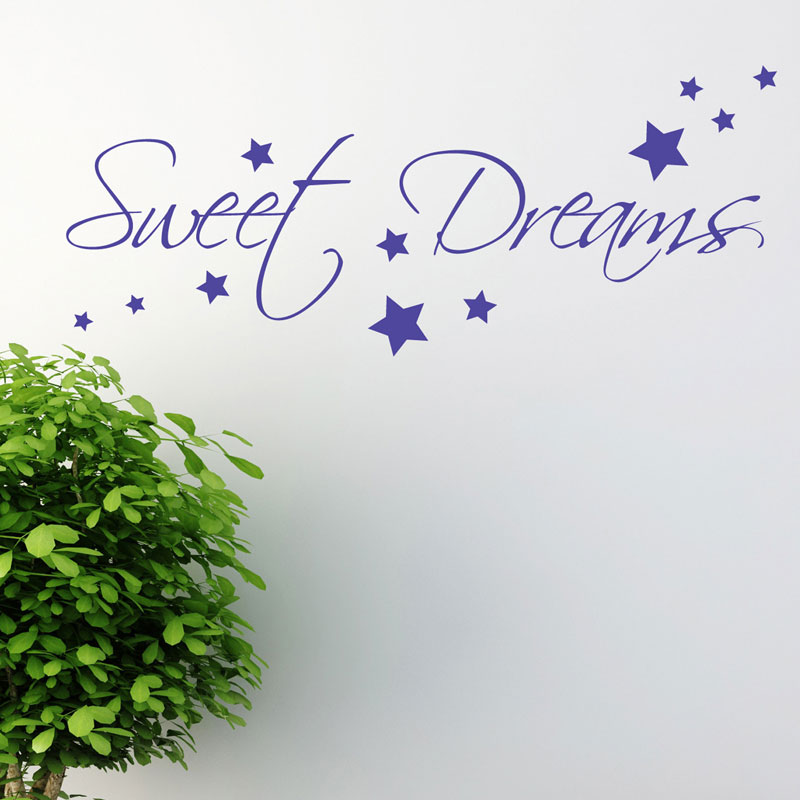 sweet dreams wall sticker art decals quotes bedroom w43 ebay sweet dreams wall decal sticker