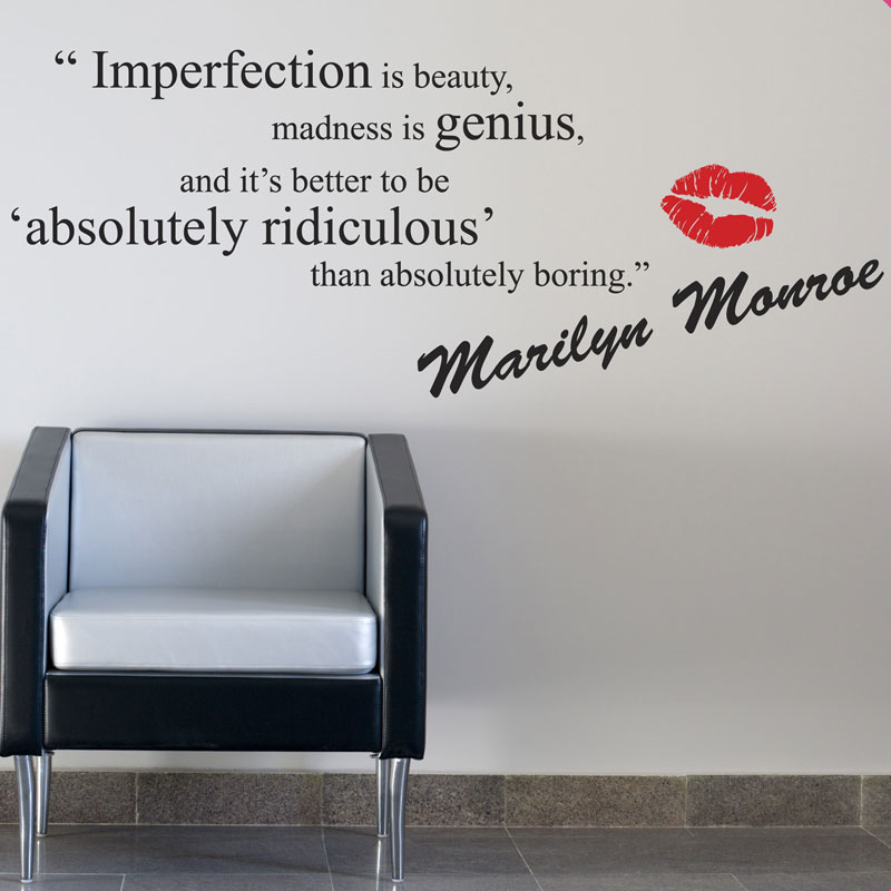 marilyn monroe wall stickers quotes art decals w52 ebay family inspirational wall art quotes vinyl wall sticker