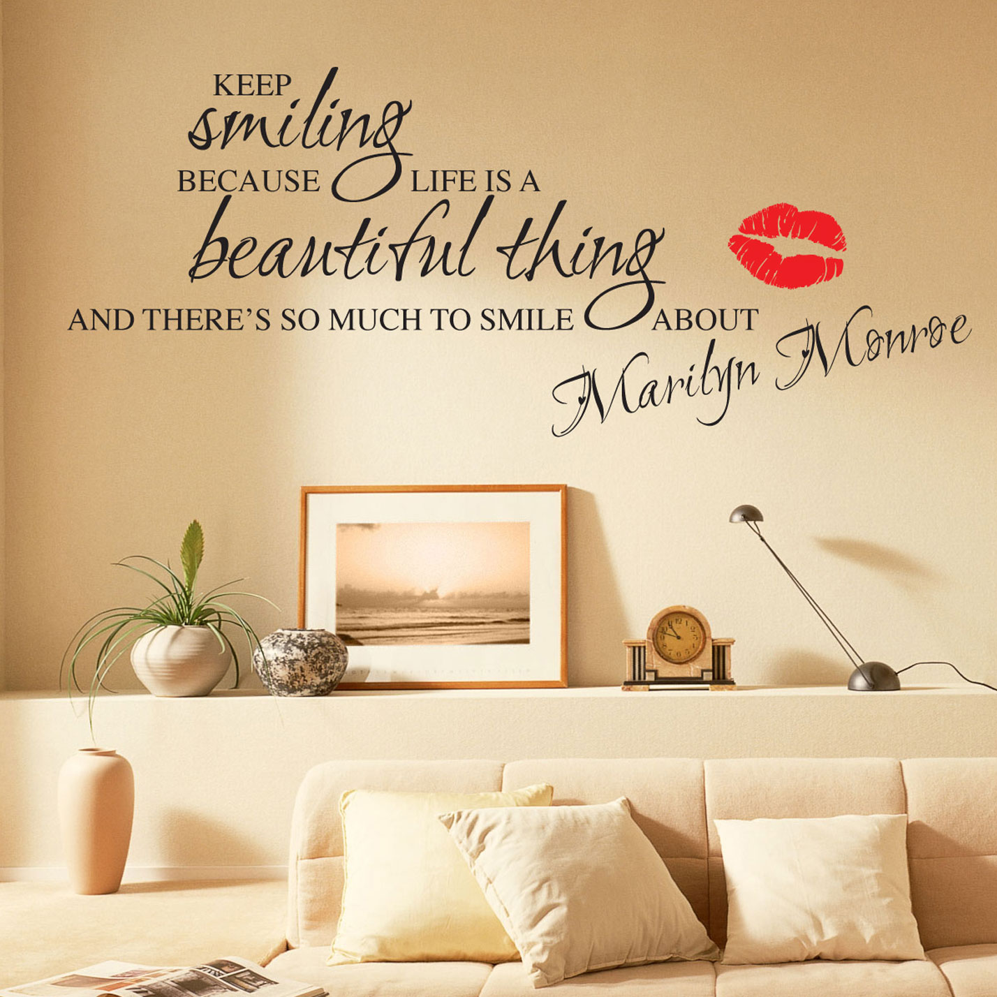 marilyn monroe wall stickers quotes art decals w55 ebay smile wall sticker quote wall chimp uk