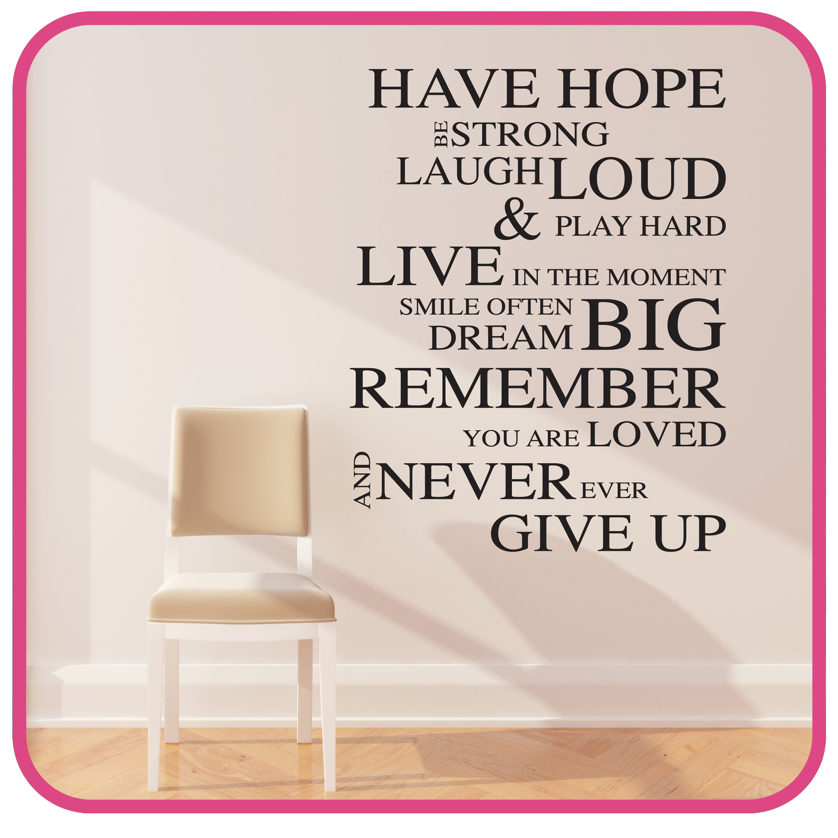 Inspirational wall art stickers about have hope inspirational wall stickers quotes art decals w59 amipublicfo Image collections