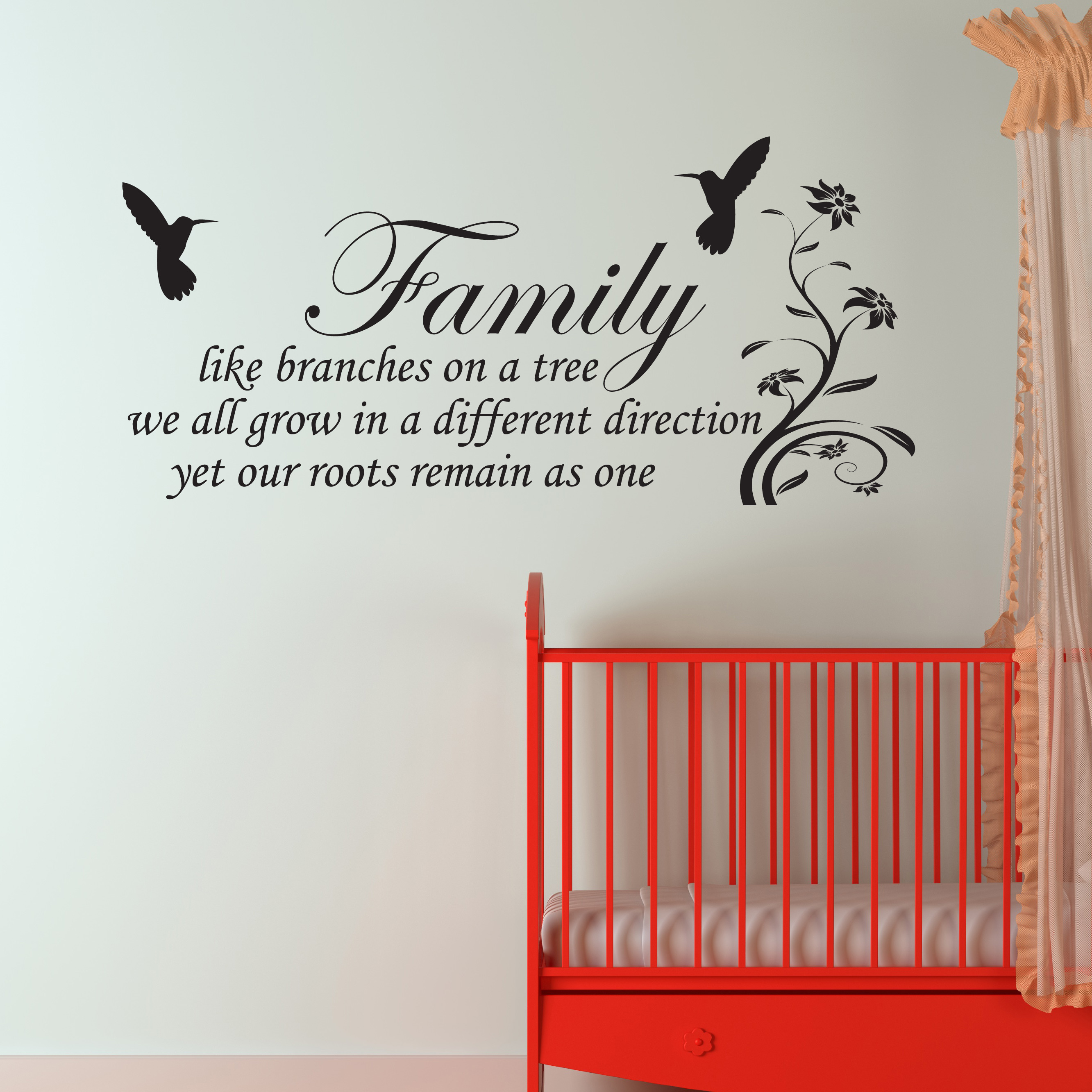 Family Inspirational Wall Art Wall Quote Sticker Art Decor W94