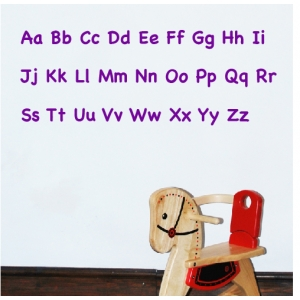 Alphabet Wall Sticker Upper & Lowercase