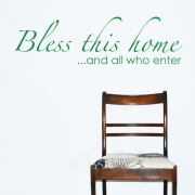 Christian Quotes Wall Sticker - Bless This House Wall Quotes