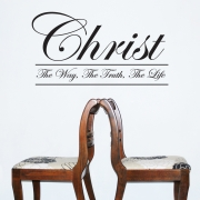 Christ God Wall Sticker - The Way, The Truth, The Life Wall Quotes