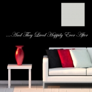 Happily Ever After Wall Stickers - Wall Quotes