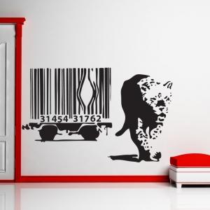 Banksy Barcode Leopard Wall Sticker