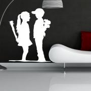Banksy Boy Meets Girl Wall Sticker