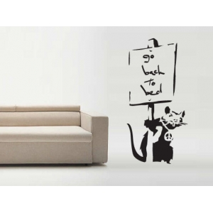 Go to Bed Rat Banksy Wall Sticker