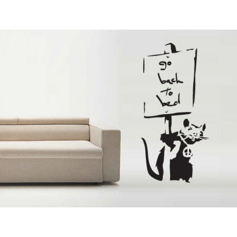 go to bed rat banksy wall sticker wall stickers banksy grin reaper wall sticker wall stickers
