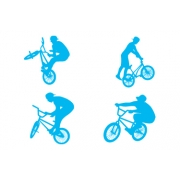 BMX Bike  Wall Stickers - Pack of 4 - Kids