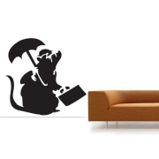 Banksy Business Rat Wall Decal