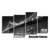 New York Brooklyn Bridge B/W