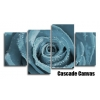 Duck Egg Blue Rose Floral