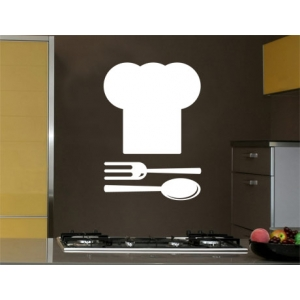 Chef Hat Wall Sticker - Kitchen