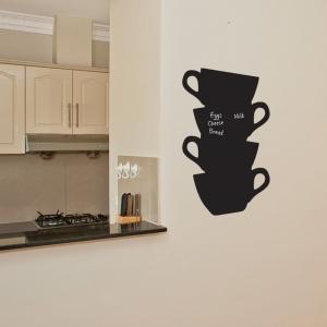 Chalkboard Wall Stickers -Tea Cups