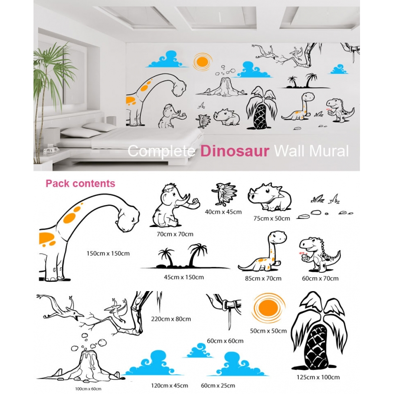 Dinosaur wall mural for Dinosaur wall mural uk