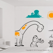 Complete Dinosaur Wall Mural