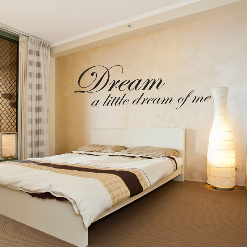 Dream A Little Dream Of Me Wall Sticker Wall Quotes Wall Stickers