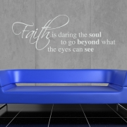 Faith Wall Sticker - Wall Quotes