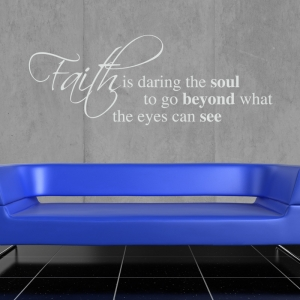 Faith Wall Sticker - Wall Quotes
