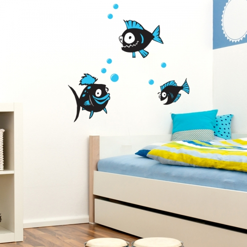 fish wall decals 2017 grasscloth wallpaper