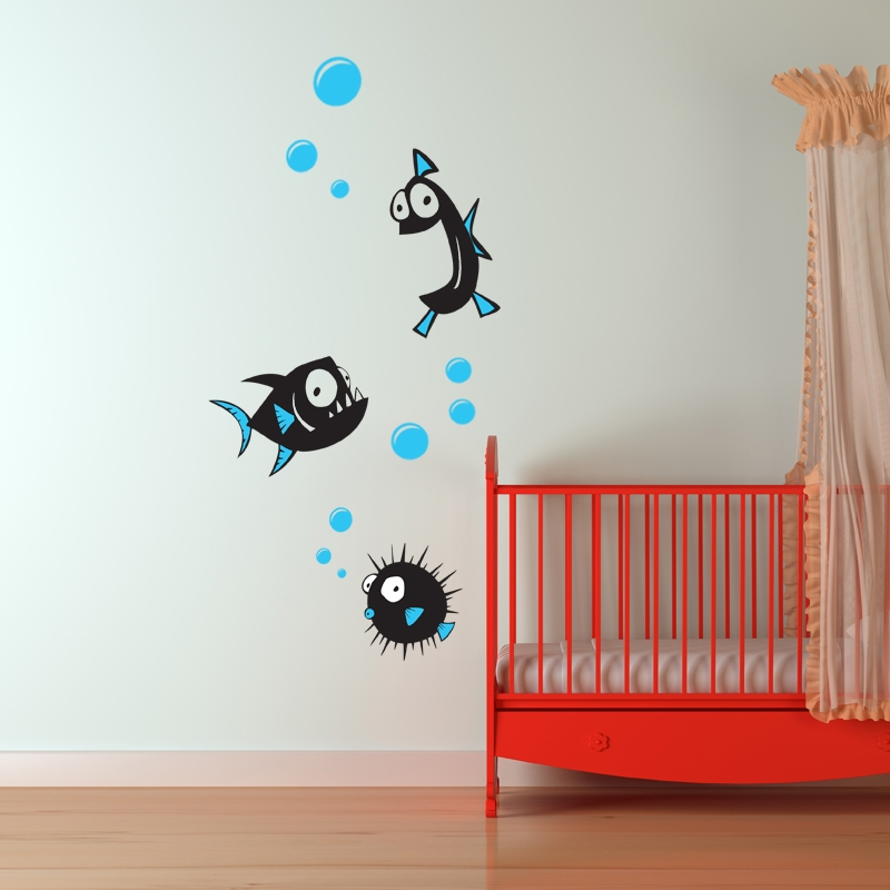 fish wall stickers 2 kids wall stickers