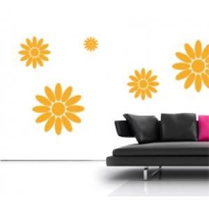 Sun Flowers Wall Stickers - Floral