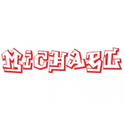 Personalised Name In Graffiti Wall Stickers - Kids