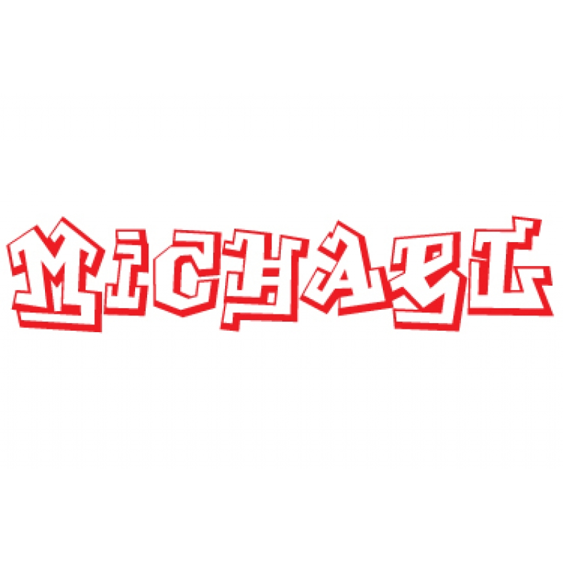 personalised name graffiti lettering wall sticker decal