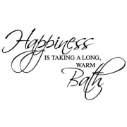 Happiness is taking a bath Wall Sticker - Bathroom Quotes