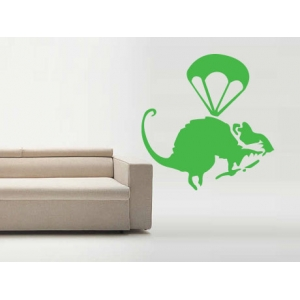 Parachute Rat Banksy  Decal