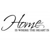 Home Is Where The Heart Is Wall Sticker - Wall Quotes