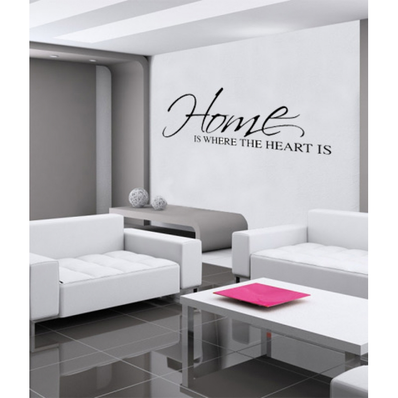 Home Is Where The Heart Is Wall Sticker   Wall Quotes Part 95