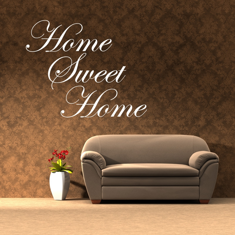home sweet home wall sticker sweet home trees wall sticker wall art decals vinyl