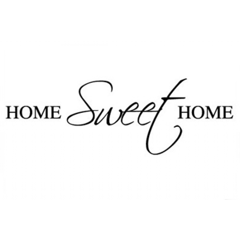 Home sweet home wall sticker wall quotes wall stickers for Home sweet home quotes