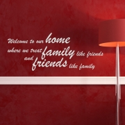 Home and Family Wall Sticker - Wall Quotes