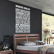 Rules of the House House rules Family Quote Wall Sticker - Wall Quotes