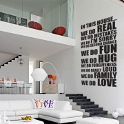 In this house - House Rules Family Quote Wall Sticker - Wall Quotes