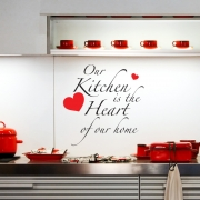 Kitchen is the heart of our home Wall Sticker  - Wall Quotes