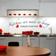 Kitchens Bring Families Together Wall Sticker - Wall Quotes